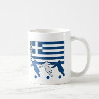 Grecia - jugadores de fútbol taza de café