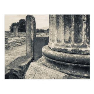 Grecia, ruinas de la ciudad antigua tarjetas postales
