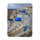 Grecia, Santorini. Campanario y bóvedas azules de  Iman Flexible