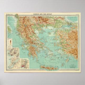 Grecia y el egeo póster
