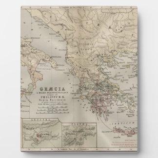 grecian antique map plaque