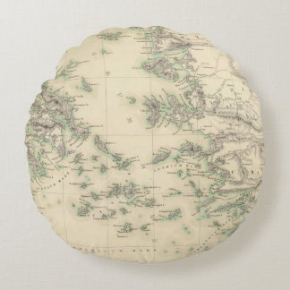Grecian Archipelago, ancient Round Pillow