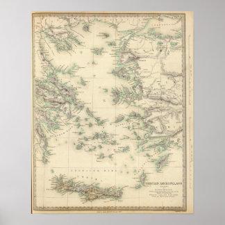 Grecian Archipelago, ancient Poster