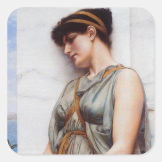 Grecian Reverie Square Sticker