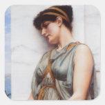 Grecian Reverie Square Stickers