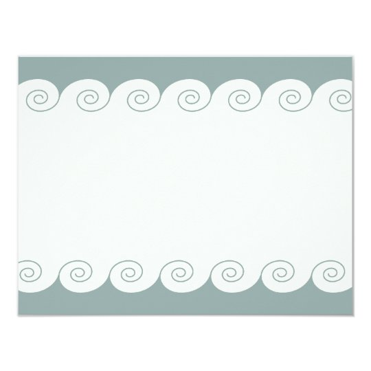 Grecian Spiral Waves Card