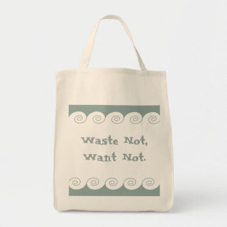 Grecian Spiral Waves Grocery Tote Bag
