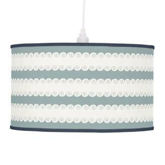 Grecian Spiral Waves Hanging Lamp