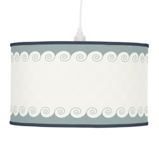 Grecian Spiral Waves Hanging Pendant Lamp