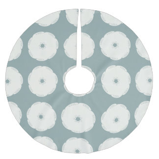 Grecian Spiral Waves Brushed Polyester Tree Skirt