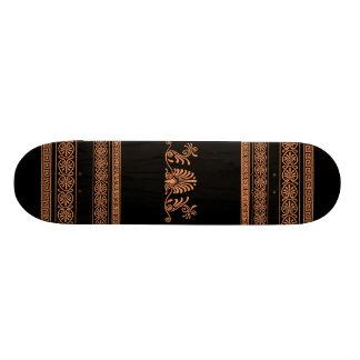 Grecian Style Black and Orange Girls Skateboard