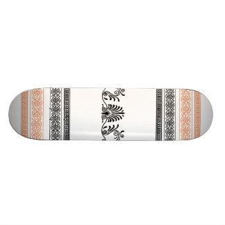 Grecian Style Black, Orange and White Skateboard