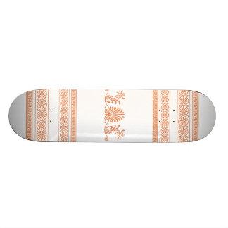 Grecian Style White and Orange Girls Skateboard
