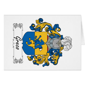 Greco Family Crest Card