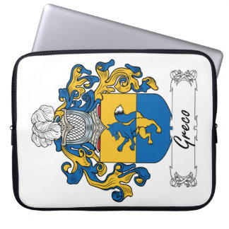 Greco Family Crest Computer Sleeves