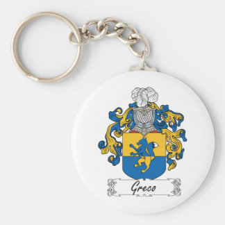 Greco Family Crest Keychains