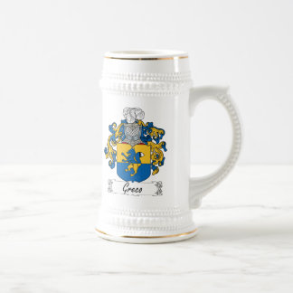 Greco Family Crest 18 Oz Beer Stein