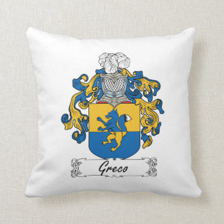 Greco Family Crest Pillow