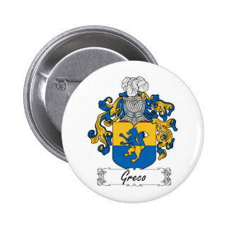 Greco Family Crest Pins