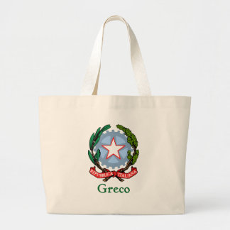 Greco Republic of Italy Large Tote Bag