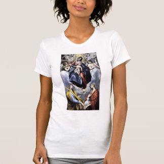 Greco-Virgen del EL, niño, St. Martina, St. Inés Camiseta