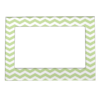 Gree Chevron Pattern Picture Frame Magnetn Picture Frame Magnet