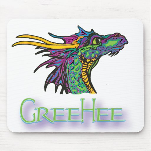 Gree Hee The Deep Thinking Dragon Mouse Pad