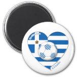 "Greece ""ΕΛΛΆΔΑ"" Soccer Team. Soccer Greece 2014 Magnet"
