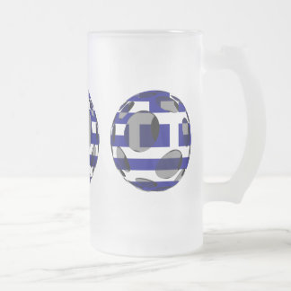 Greece #1 frosted glass beer mug