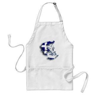 Greece 2 adult apron