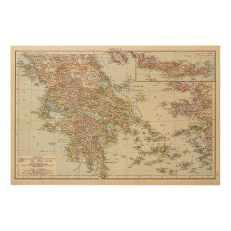Greece 4 2 wood wall art