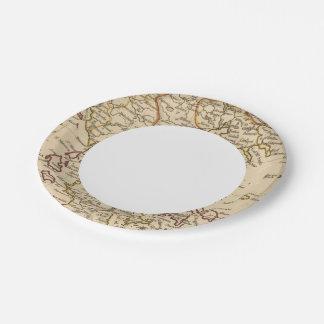 Greece 9 paper plate
