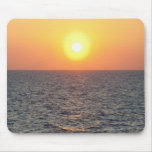 Greece, Aegean Sea horizon at sunset Mouse Pads