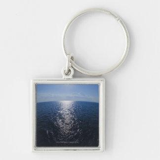 Greece, Aegean Sea horizon Silver-Colored Square Keychain
