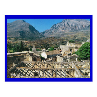 Greece, ancient town of Preveli Postcard