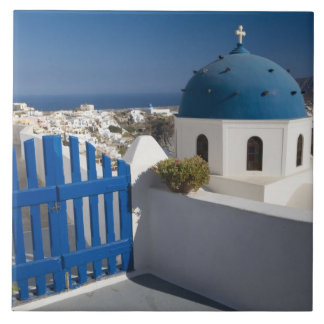 Greece and Greek Island of Santorini from the Ceramic Tile