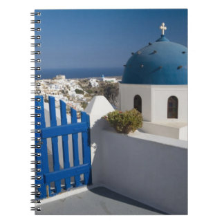 Greece and Greek Island of Santorini from the Notebook