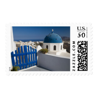 Greece and Greek Island of Santorini from the Postage