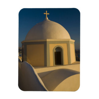 Greece and Greek Island of Santorini town of 2 Rectangular Magnets