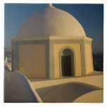 Greece and Greek Island of Santorini town of 2 Large Square Tile