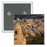 Greece and Greek Island of Santorini town of 2 Inch Square Button