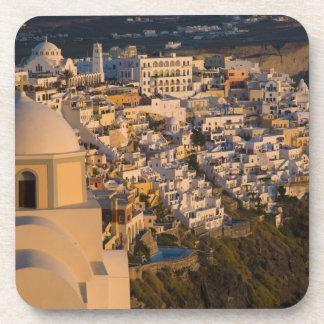 Greece and Greek Island of Santorini town of Coaster