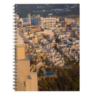 Greece and Greek Island of Santorini town of Spiral Notebooks