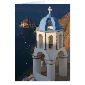 Greece and Greek Island of Santorini town of Oia 2 Card
