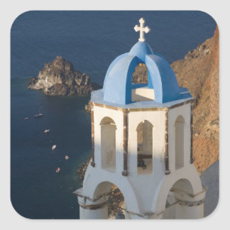 Greece and Greek Island of Santorini town of Oia 2 Square Sticker