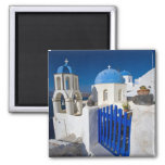Greece and Greek Island of Santorini town of Oia 3 2 Inch Square Magnet