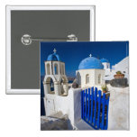 Greece and Greek Island of Santorini town of Oia 3 2 Inch Square Button