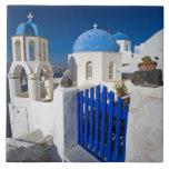 Greece and Greek Island of Santorini town of Oia 3 Ceramic Tile