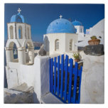 "Greece and Greek Island of Santorini town of Oia 3 Ceramic Tile<br><div class=""desc"">COPYRIGHT Darrell Gulin / DanitaDelimont.com 