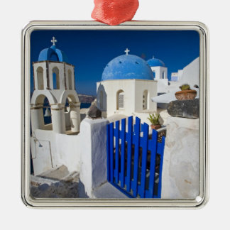 Greece and Greek Island of Santorini town of Oia 3 Metal Ornament